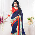 Stylish Blue Saree