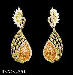 Antique Cubic Zircon Earrings