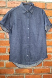 Indigo Knitted Shirt