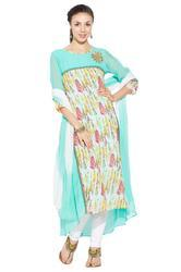Designer Beautiful Party Wear Casual Long Kurti Salwar Suit
