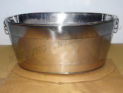 Stainless Steel Etched Bucket