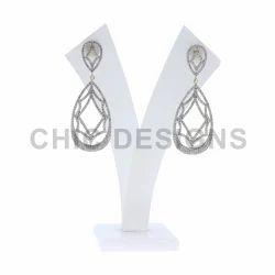 Gold Diamond Designer Earrings