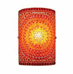 Orange Mosaic Wall Lamp