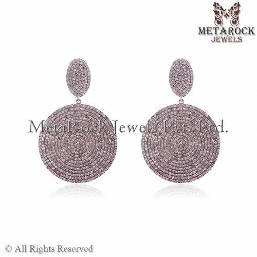 New Design Pave Diamond Earring