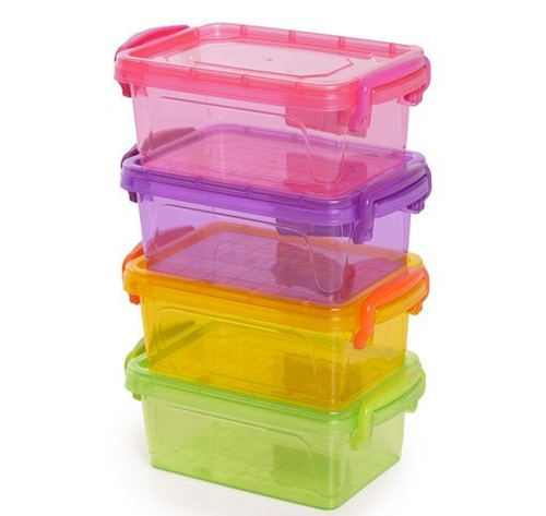 Beau Colored Plastic Containers