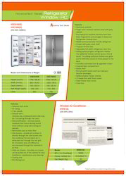 White Westinghouse Side By Side Refrigerators