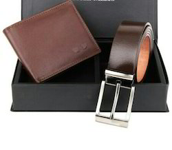 Leather Belts And Wallet Combo Set