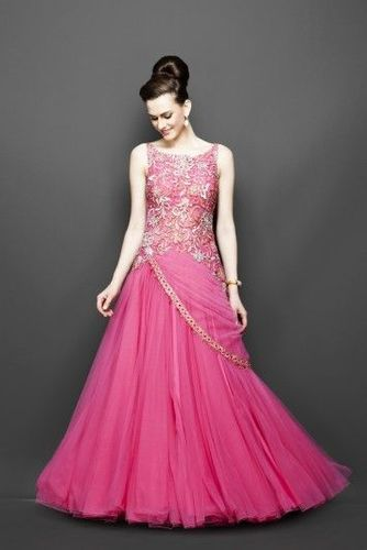 Ladies Gown Party Wear Gown Wholesaler From New Delhi