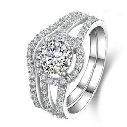 Massonite Silver Diamond Ring