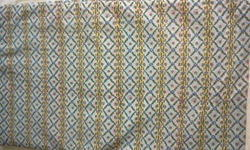 Blue Border Design Block Printed Fabric