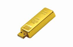 Gold Bar Shaped Pen Drive