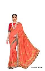 Designer Embroidery Silk Saree