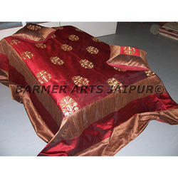 Bed Cover Silk Embroidery Mugal Boota