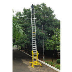 Tiltable Mobile Tower Extension Ladder