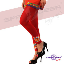 Spring Deer Printed Women's Leggings