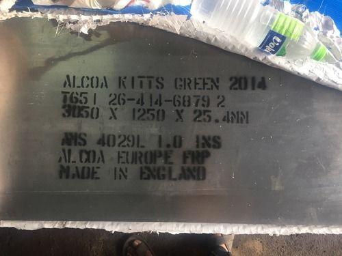 Aluminium Alloy 2014 T651 Plates