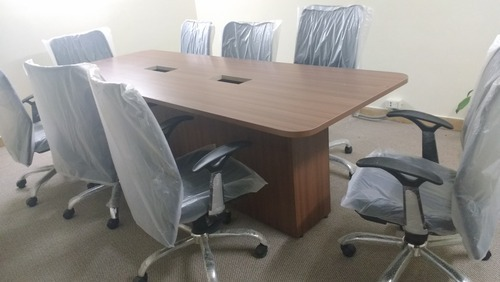 Conference Tables X Three Seater Waiting Chairs MS Powder - 10 x 4 conference table