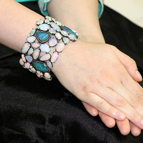 Opal Gemstone Cuff Bracelet