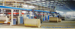 Three Ply & 5 Ply Automatic Paper Corrugated Box Machine