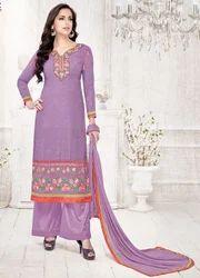 Purple Georgette Salwar Suit