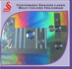 3D Rainbow Transparent Laser Holographic Label