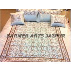 Bed Cover Silk Embroidery Sari Jaal Full Work