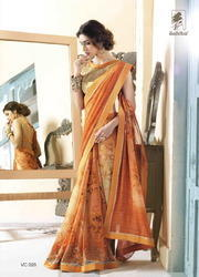 Pure Georgette Designer Saree
