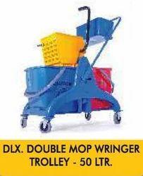 Double Mop Wringer Dlx. Double Mop Wringer Trolley - 50 Ltr