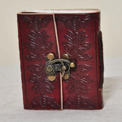 Junkyard Leather Journal Diary With Handmade Paper- Ghost