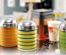 ribbed canister w 2 tone color theme