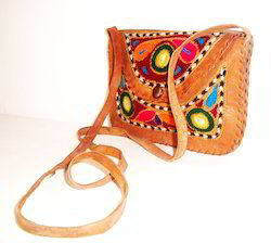 Embroidery Leather Slings Bags