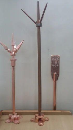 Copper Lighting Arrester Rod / Flat Tape System