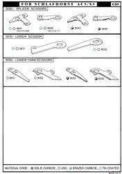 Schlafhorst AC5 / X5 Winding - Scissors