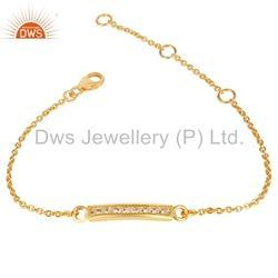 Gold Plated Silver Gemstone Bracelets