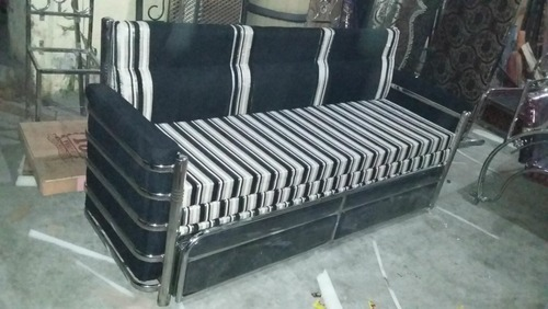 stainless steel sofa cum bed