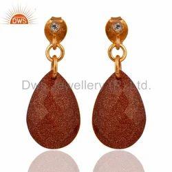 Natural Gemstone 925 Silver Earrings