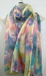 Multi Colour Shaded Silk Scarves