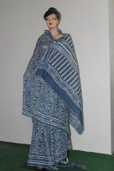 Hand Block Print Chanderi Saree Cotton Saree