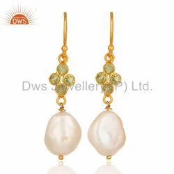 Natural Pearl 925 Silver Drop Earrings Jewelry