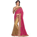 Chiffon Saree with Work