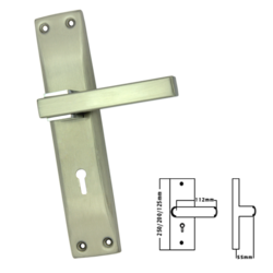 SS Mortise Handle with KY Lock