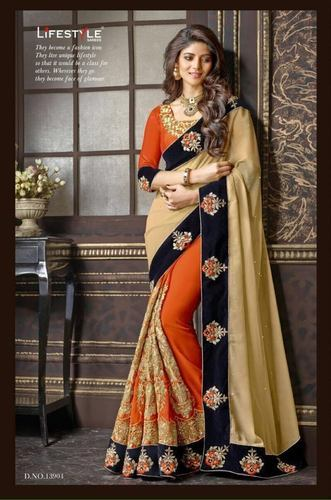 Multi Colour Heavy Saree Wear