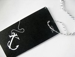Custom Logo Printed Paper Tags In Black Made From 300 Gsm