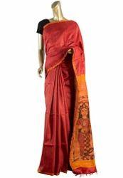 Handloom Kalamkari Painted Saree