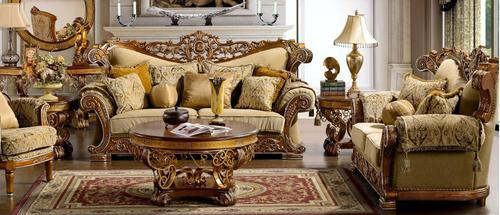 Luxury Wooden Sofa Set