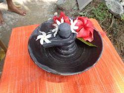 Black Stone Shivling with Base