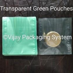 Transparent Green Polyester Laminated Pouches
