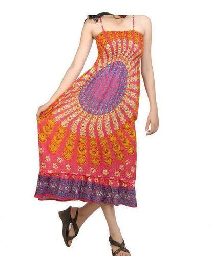Rayon Mandala Spaghetti Dress DR-3