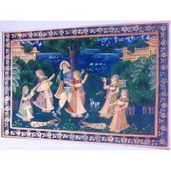 Painting of Krishna in Raas Lila
