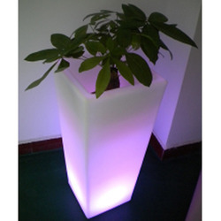 Chargeable LED Square Flowerpot